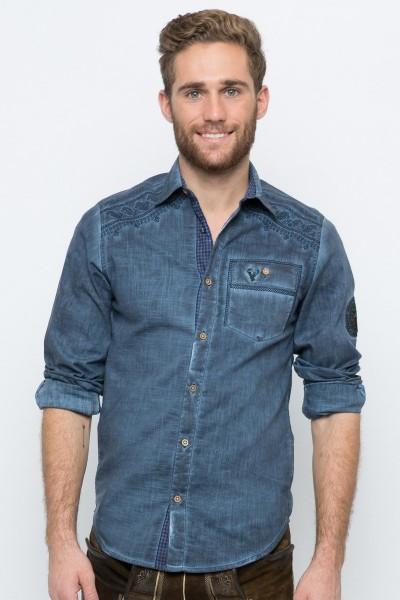 Trachtenhemd Konstantin, blau