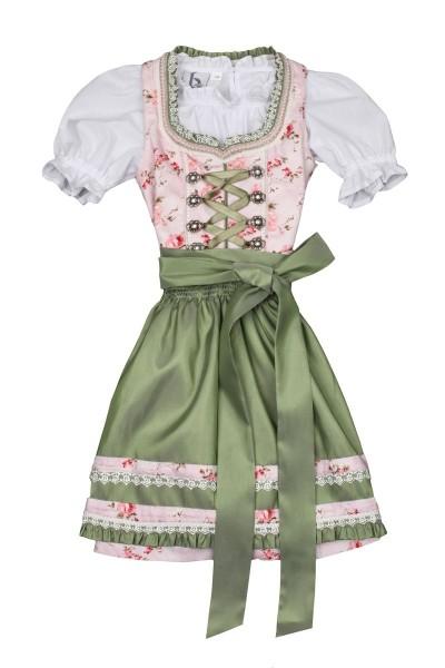 Kinderdirndl Mina, rosa/grün