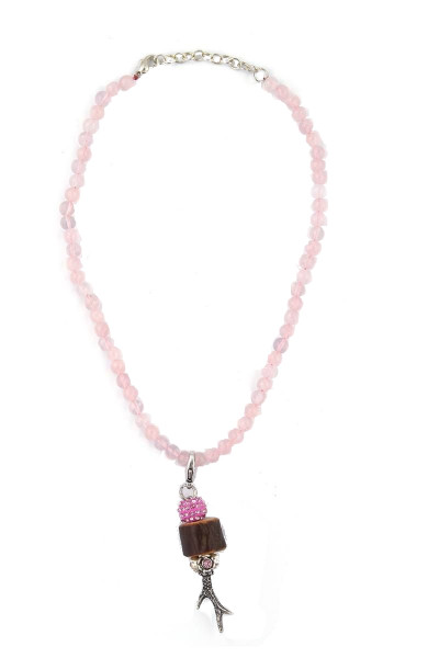 Trachten Halskette Rehröschen, rosa