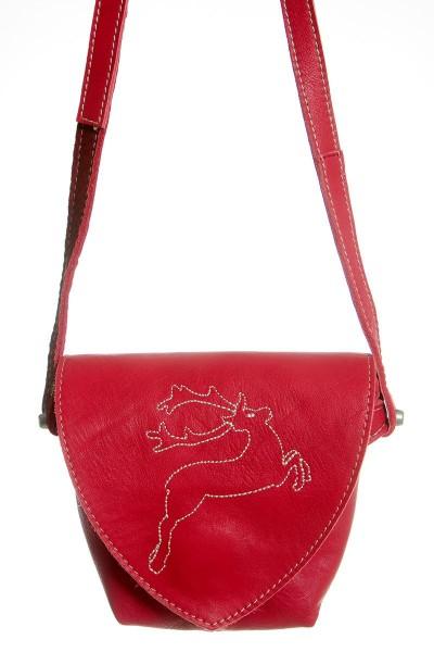 Damen Dirndltasche Hirschglück, rot