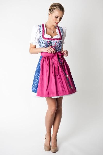 Dirndl Nele, blau/pink