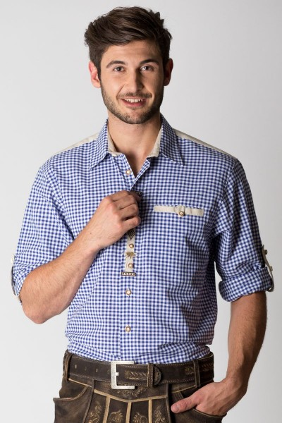 Trachten Hemd Gerhard, blau