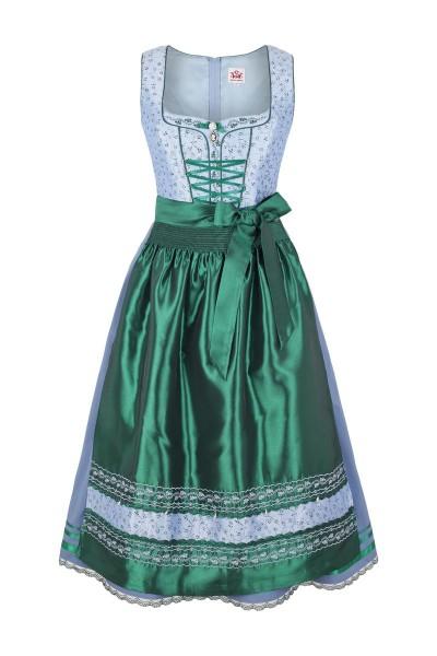 Trachten Dirndl Fidelia, blau/grün