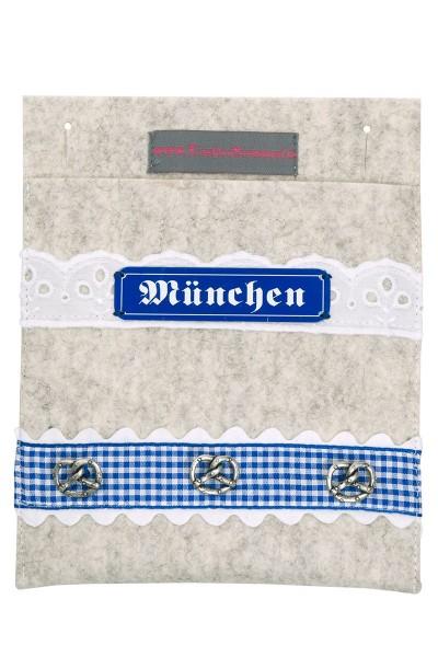 Trachtentasche Mein München, hellgrau