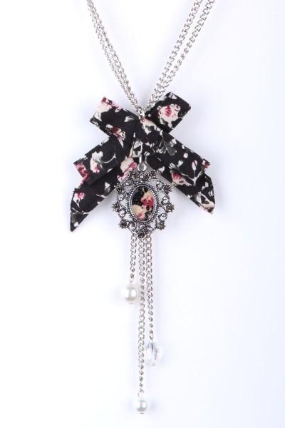Trachtenkette mit Schleife, schwarz