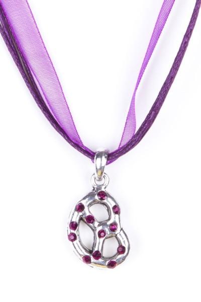 Trachtenkette Brezel, violett