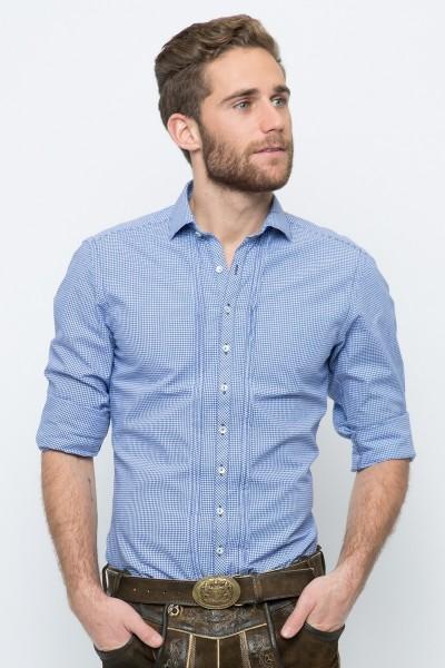 Trachtenhemd Maximilian, dunkelblau
