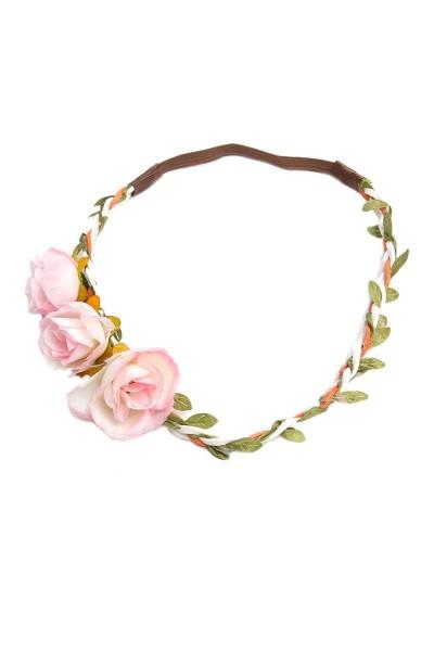 Trachten Kopfband Rosenglück, rosa