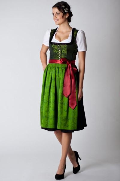 Trachten Dirndl Eva, dunkelgrün/grün