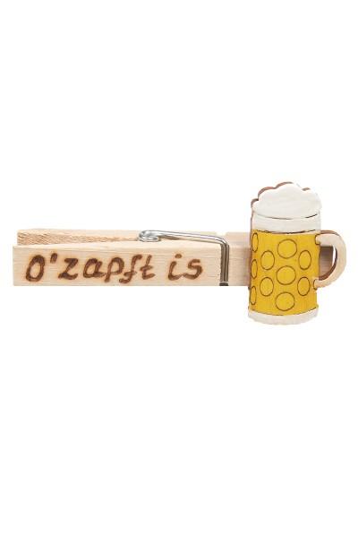 "Wiesn Zwickerl ""Ozapft is"" Bierkrug, gelb"