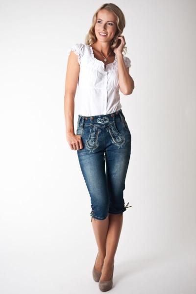 Trachten Jeans Felicitas kniebund, blau
