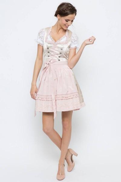 Mini Dirndl Rena, beige/rosa