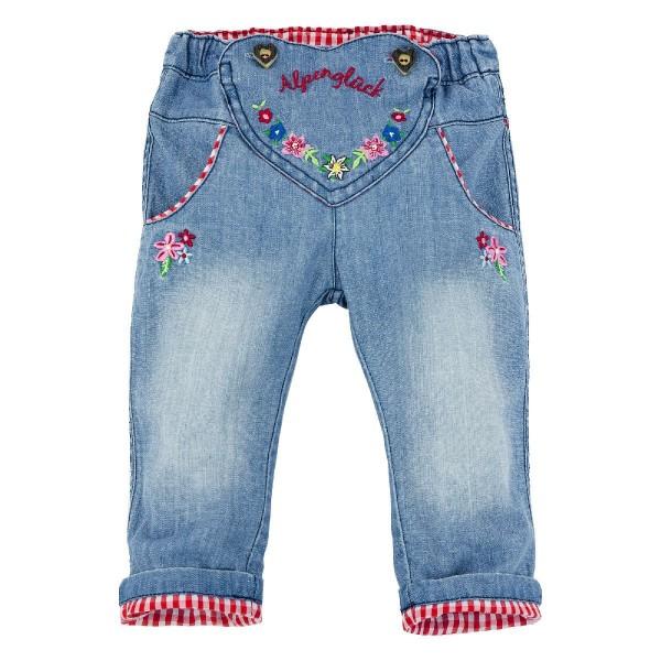 Kinder Trachten Jeans Nadja, blau