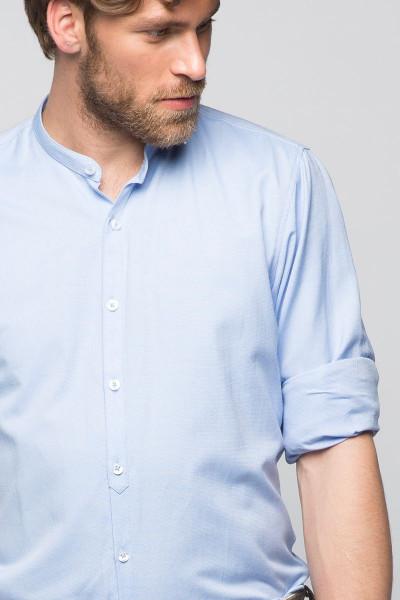 Trachtenhemd Leopold, hellblau, Oxford