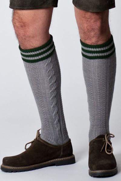 Trachten Socken Lindau, grau/grün