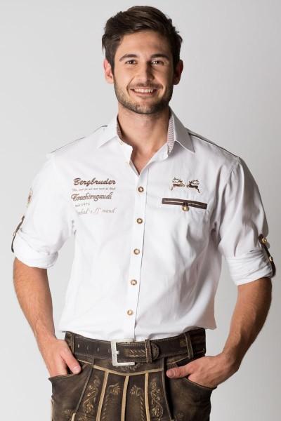 Trachtenhemd Hubertus, weiß