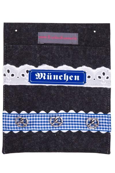Trachtentasche Mein München, anthrazit