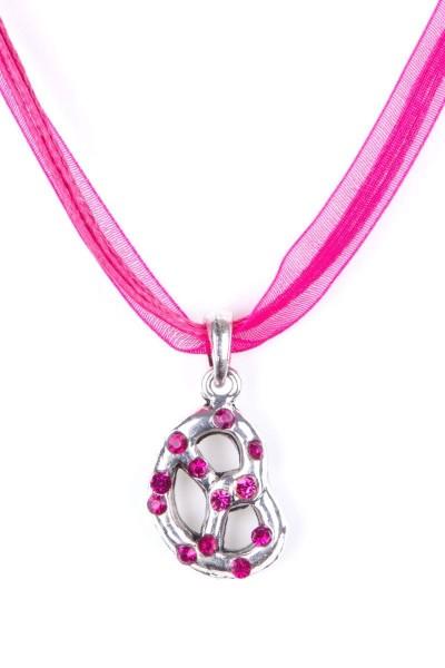 Trachtenkette Brezel, pink
