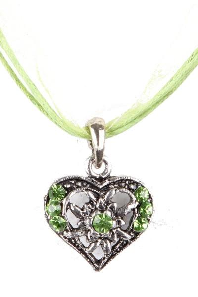 Trachtenkette Kleines Herz, hellgrün