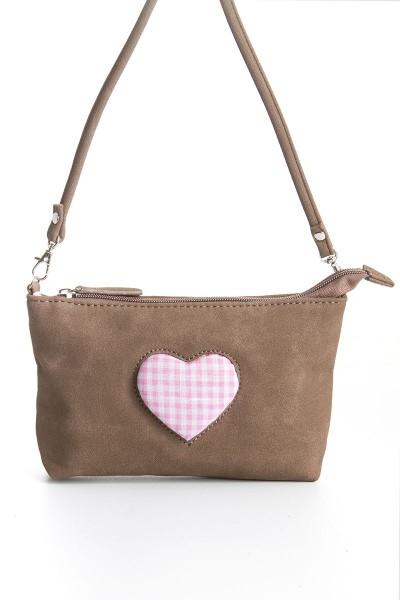 Trachten-Tasche Agnes, braun/pink
