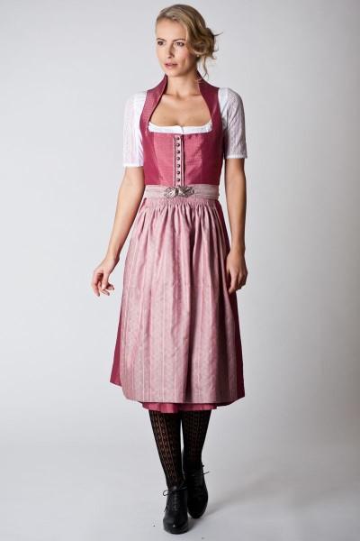 Trachten Dirndl Marei, dunkelrot/rosa