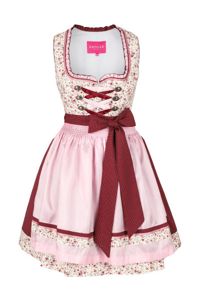 Mini Dirndl Lisa-Marie, bordeaux/rosa