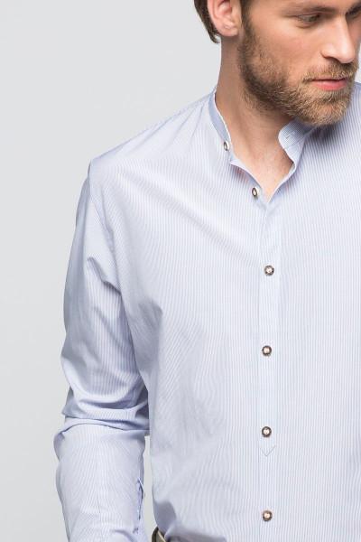 Trachtenhemd Georg, weiß/dunkelblau