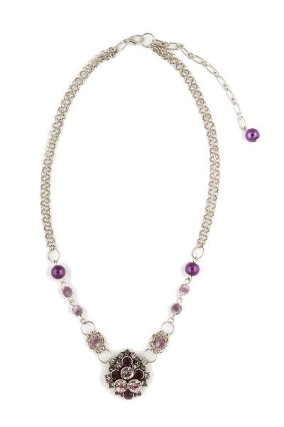 Trachten Halskette Trachtentraum, lila