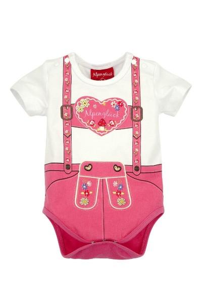 Kinder Baby Body Alpenglück, pink
