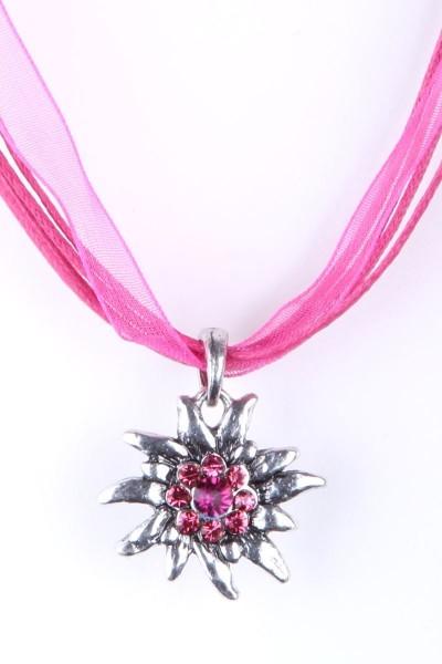 Trachtenkette Edelweiß II, pink