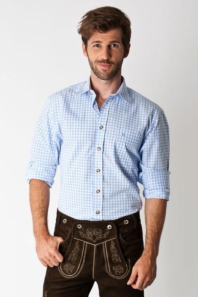 Trachtenhemd Schwabing, hellblau