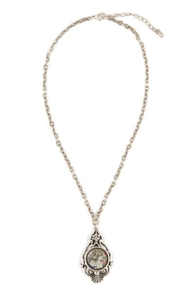 Trachten Halskette Krokus, silber