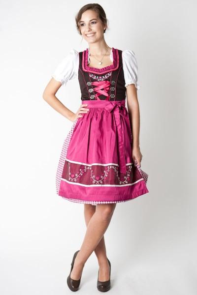 Dirndl Mila, braun/pink