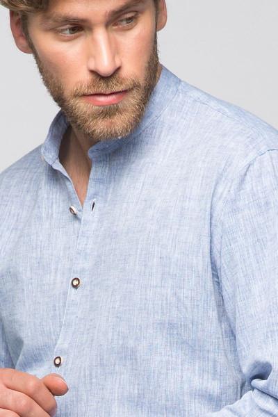 Maddox Slim Fit Trachtenhemd Ludwig Blau Hellgrün Kariert Herren zur Lederhose