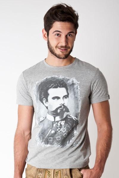 Trachten Shirt Ludwig, grau