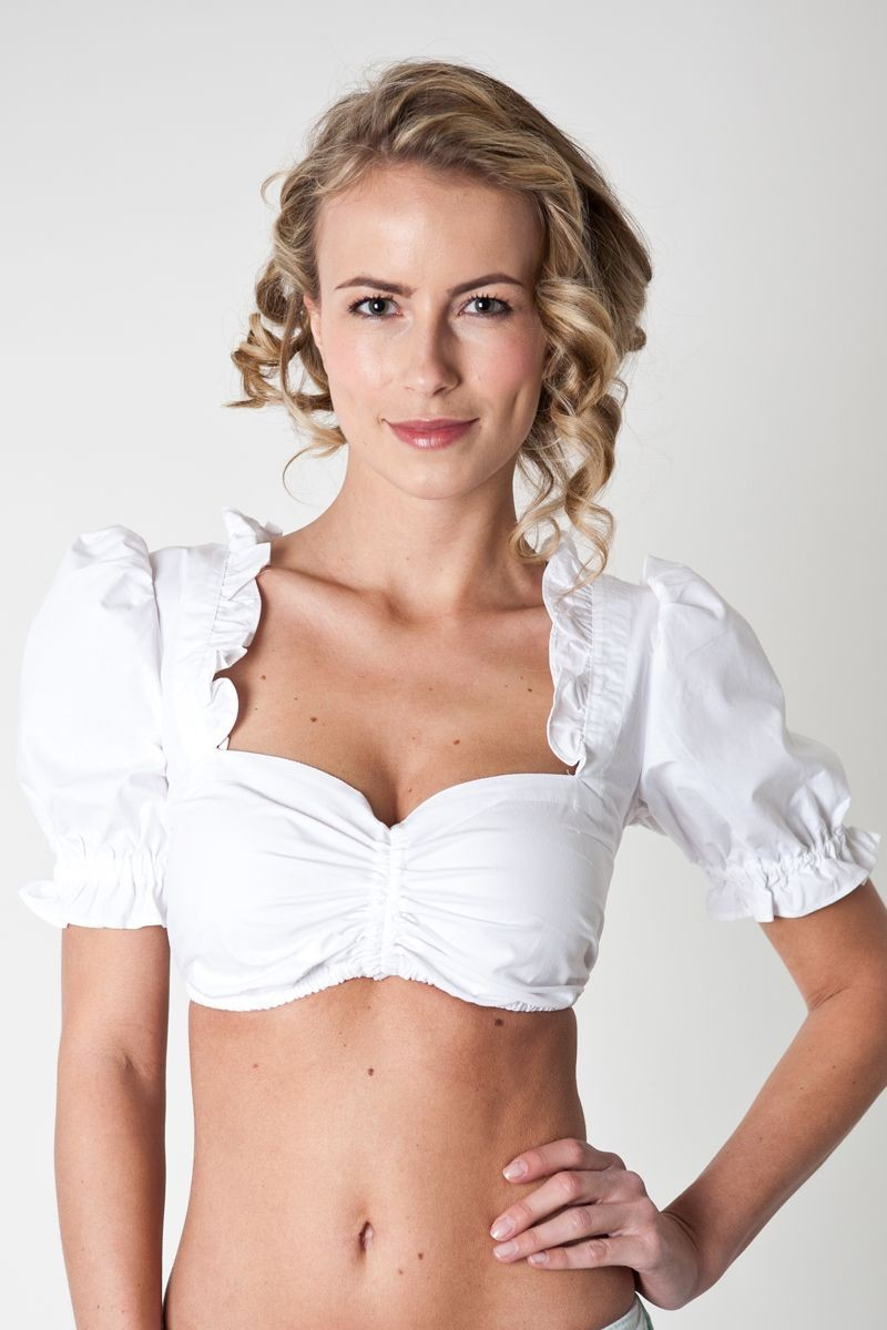 Dirndlbluse Sophie Weiß