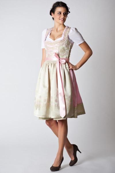 Trachten Dirndl Lavinia, hellgrün/rosa