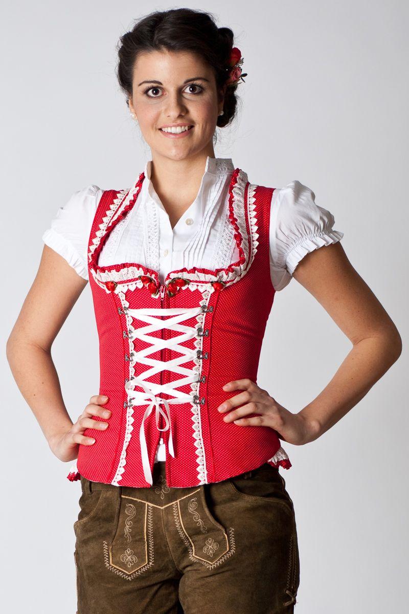 Trachten Mieder Marta, rot | Krüger | online bestellen