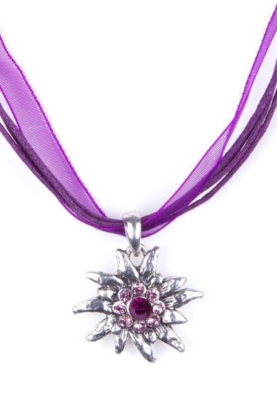 Trachtenkette Edelweiß II, violett