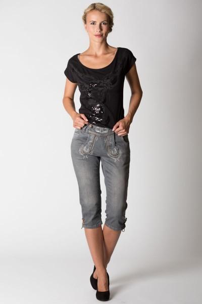 Damen Jeans Hose kniebund, grau