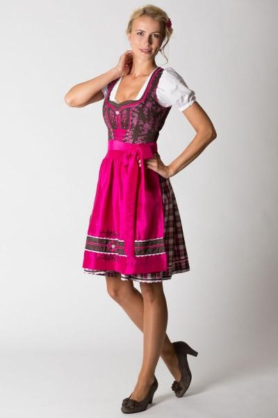 Mini Dirndl Adria, braun/pink