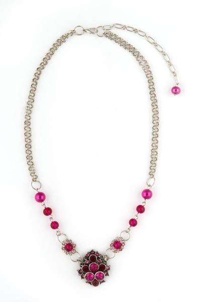 Trachten Halskette Trachtentraum, pink