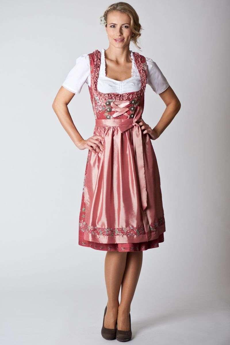 Trachten Dress Leona, red | Gwandlalm | online bestellen | Ludwig ...