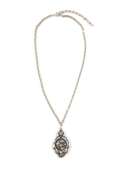 Trachten Halskette Almwiese, silber