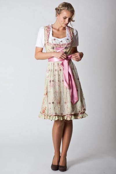 Midi Dirndl Nice, mint/rosa