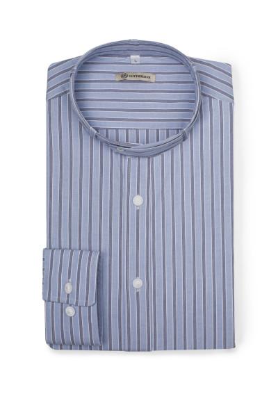 Trachtenhemd Lenz, blau/blau