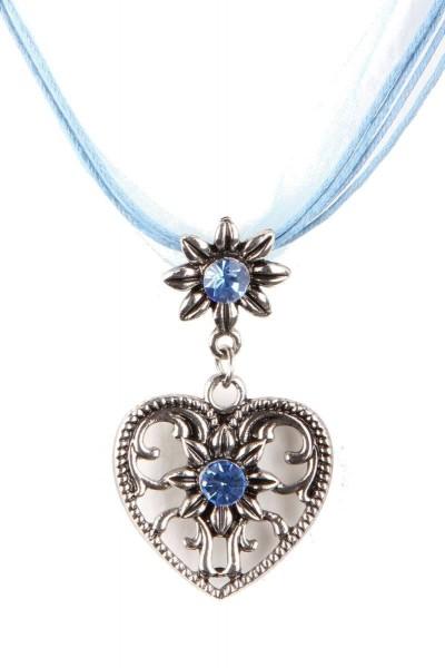 Trachtenkette Großes Herz, meerblau