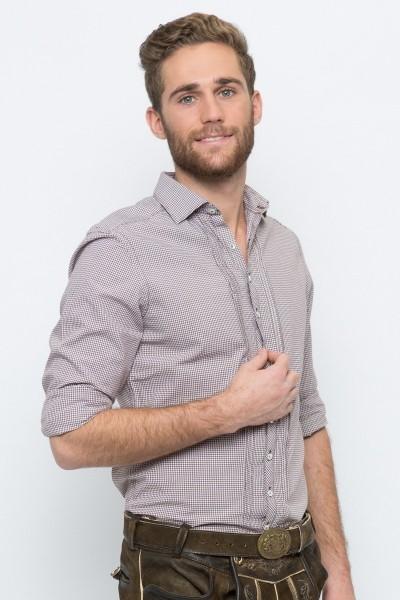 Trachtenhemd Maximilian, braun