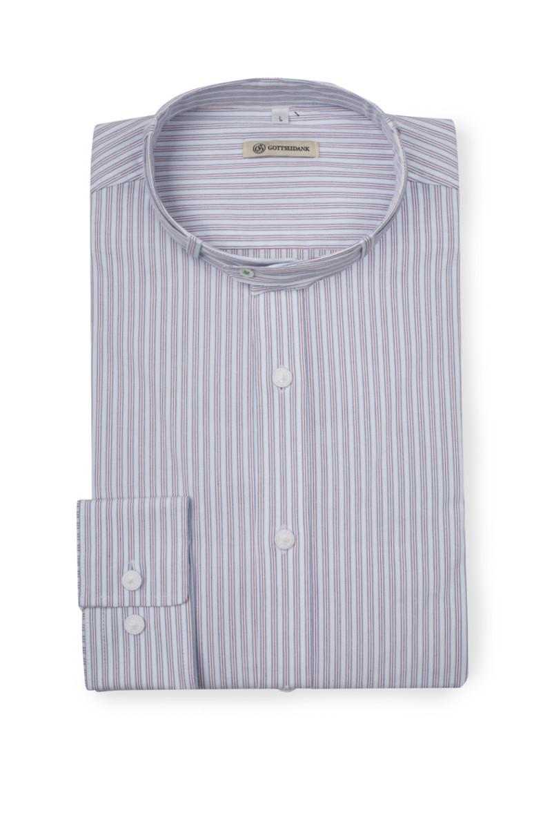 Trachtenhemd Lenz Blaurot