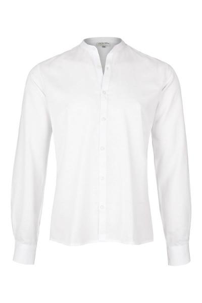 Trachtenhemd Leopold, weiß, Oxford